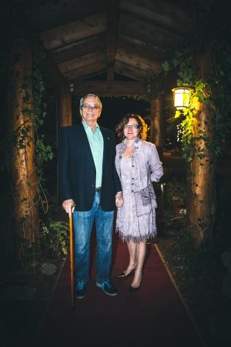 George Bowering & Jean (photo by Kris Krüg)
