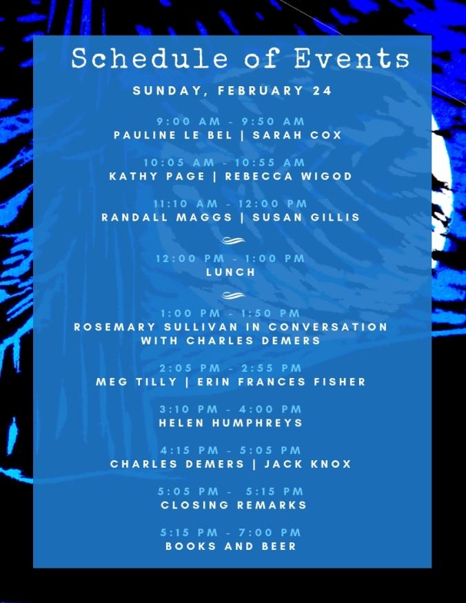 Lit Fest Schedule - Feb 24