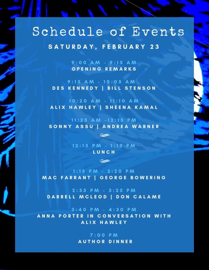 Lit Fest Schedule - Feb 23