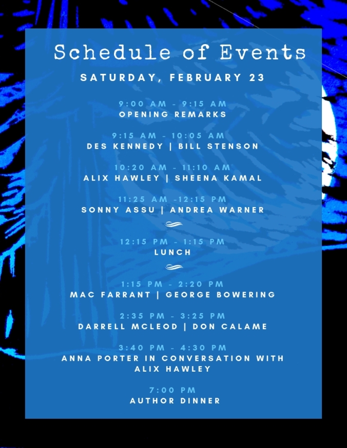 Lit Fest Schedule - Feb 23